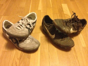 Spot the difference. Onitsuka Tigers (left) Football boots (right)