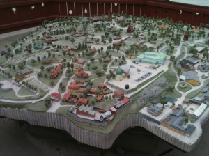 Model map of Skansen – it's big… and err, open air